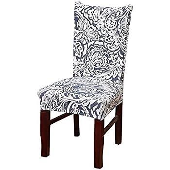 Amazon Com Vonty Vintage Floral Print Dining Chair Covers