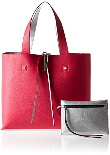 Tote bright Stef Pink Reversible Klein Calvin Bag Women's Rose wpqO7