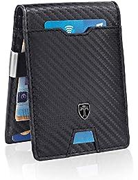 Slim Wallet with Money Clip RFID Blocking Wallet AUSTIN Credit Card Holder - Travel Wallet - Minimalist Mini Wallet Bifold for Men Mens Mans Gift Box