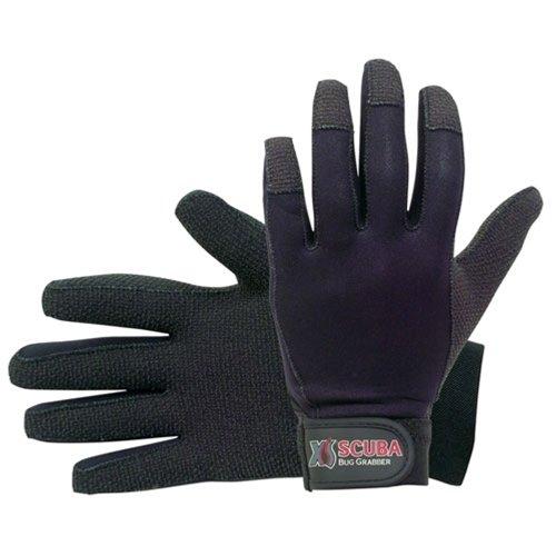 XS Scuba 2mm Bug Kevlar Grabber Diving Gloves, Black, Large