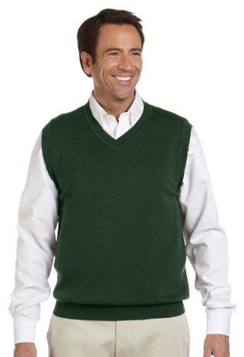 V-Neck Cotton Sweater Vest - 2