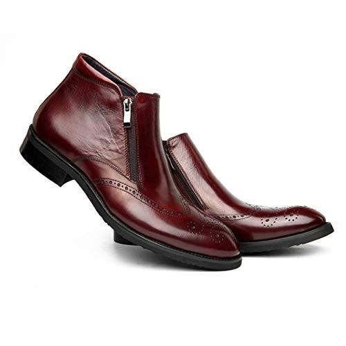 D'affari Lato Scarpe Cerniera Selvaggio High 11 Uomo 5 In Pelle Uomo Uomini Scarpe Size Scarpe Top Casuale Brown Scarpe UK Moda Uomini wxqIpxX