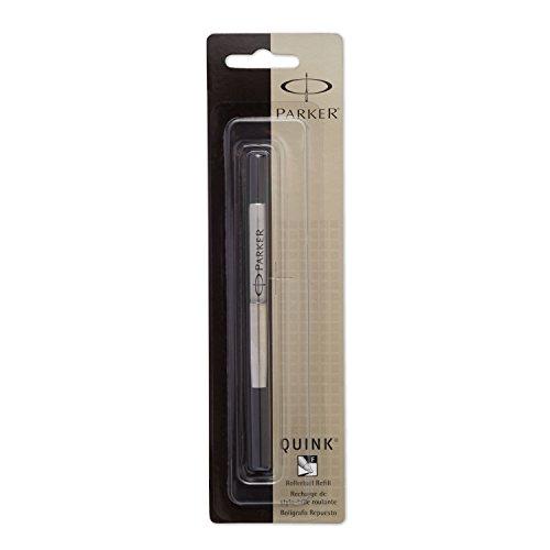 PARKER QUINK Rollerball Pen Ink Refill, Fine, Black, 1 Count