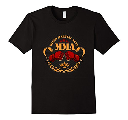 Mens Mixed Martial Arts MMA T-Shirt Large Black
