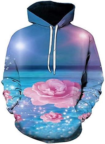 Hoody Crewneck Sweatshirt Flower Garden for Men or Women