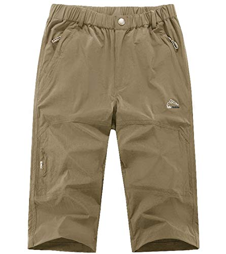 XinDao Mens Outdoor Hiking Shorts Summer Super Lightweight Quick Dry Belted Cargo Shorts with Multi Pockets