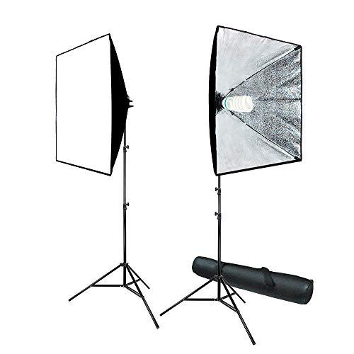 Studio Photography Light - LimoStudio 700W Photo Video Studio Soft Box Lighting Kit, 24 x 24 Inch Dimension Softbox Light Reflector with Photo Bulb, Photography Studio, AGG814