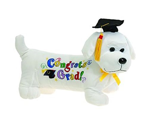 (Fiesta Toys Graduation Autograph Wiener Dog with Black Cap Plush Stuffed Animal Toy - 12 inches)
