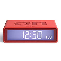 Lexon Flip On/Off Alarm Clock (Red)