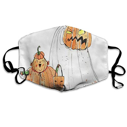 Custom Mouth Mask Anti-Dust Cartoon Halloween Face Mask Breathable Mask With Adjustable Ear-loop Windproof And Warm ()