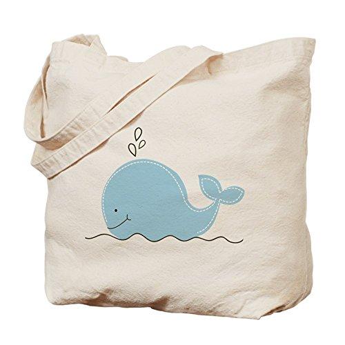 CafePress Little Balena blu–Borsa di tela naturale, panno borsa per la spesa