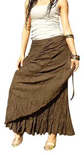4421b5994e9 Billy s Thai Shop Sexy Wrap Skirt Pleated Gypsy Flamenco Long Skirts ...