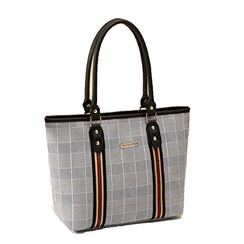 Striped Women Shoulder Bag Casual Tote Ladies Hand Bags For Women (Ladies Pocketbook Jewerly Case)