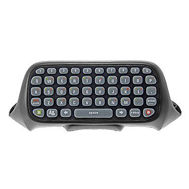 Mekela Wireless Text Messenger Game Gaming Controller Keyboard Chatpad Keypad For Xbox 360 (Black) Xbox 360 Keyboard