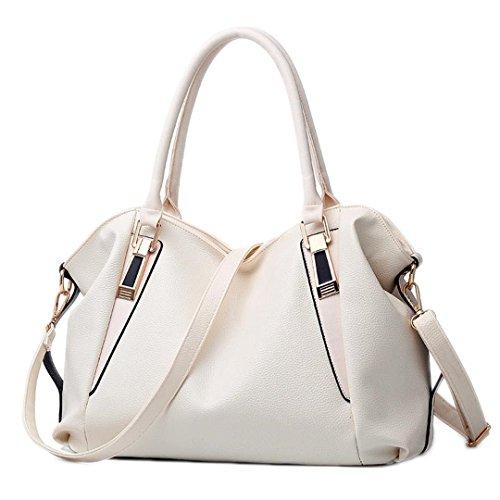 Bag Bag Shoulder Office PU Women Handbag Totes Ladies Handbags Bags Female Beige Ladies Portable Leather Hobos OEz81q