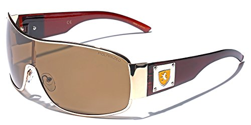 Premium Polarized Men's Shield Retro Aviator Sunglasses (Sunglasses Men Shield For)