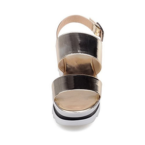 Marking Firm Non Gold Ground Urethane MJS03281 Comfort 1TO9 Womens Sandals Platforms wBIZPP