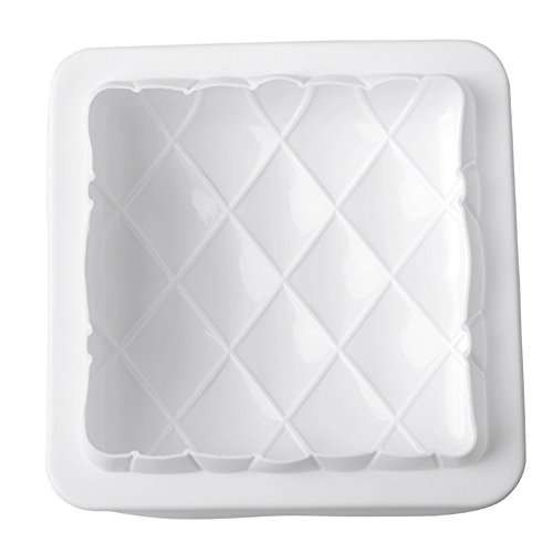 New Arrival Square Star Mirror White Silicone Cake Mold for Fondant Chocolate Bread Dessert DIY Non-stick Baking Pastry (Semi Homemade Halloween Recipes)