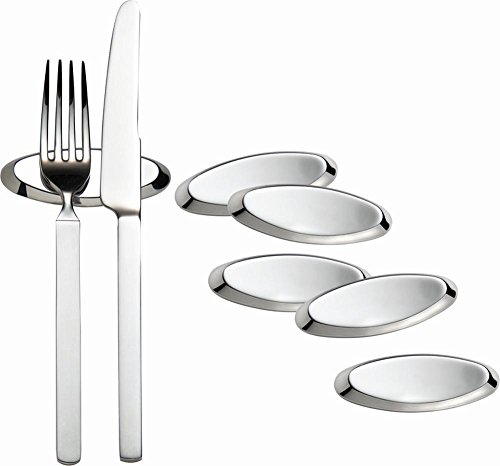 APS Messerbänkchen, 6er Set, Metall, verchromt, 8 x 3 cm