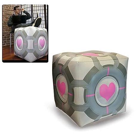 Portal Companion Cube - Inflatable Ottoman / Ottocube 19u0026quot; - by Aperture Science  sc 1 st  Amazon.com & Amazon.com: Portal Companion Cube - Inflatable Ottoman / Ottocube 19 ...