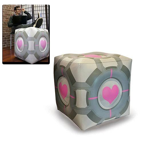 Portal 2 Companion Cube Inflatable Ottoman [The Coop] -