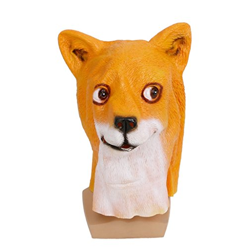 BIGBI Novelty Halloween Costume Animal Head Sounding Mask Alpaca Animal Dog Head Mask Shiba inu Latex Mask Party Costume (Latex Spiderman Mask)