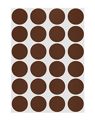 - ChromaLabel 3/4 inch Color-Code Dot Labels on Sheets | 1,008/Pack (Cocoa)