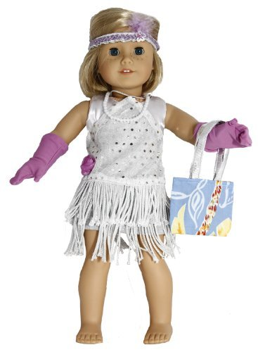 BUYS BY BELLA Flapper Dress for 18 Inch Dolls Like American Girl]()