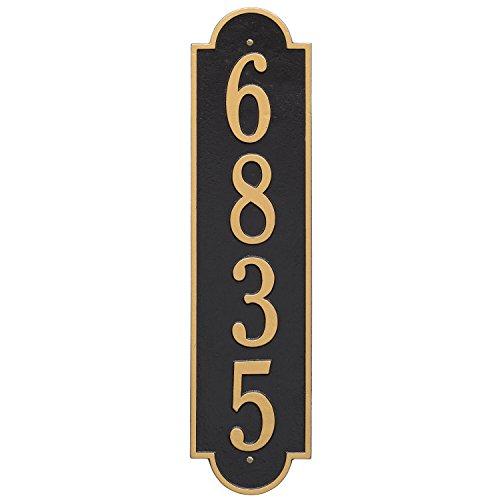 (Whitehall Custom Richmond Estate Vertical Aluminum Address Plaque 6