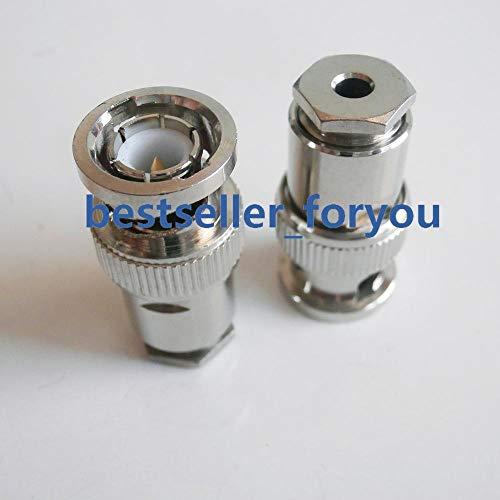 (Gimax 1Pcs BNC male Q9 plug clamp RG174 RG179 RG316 RG188 Cable connector)