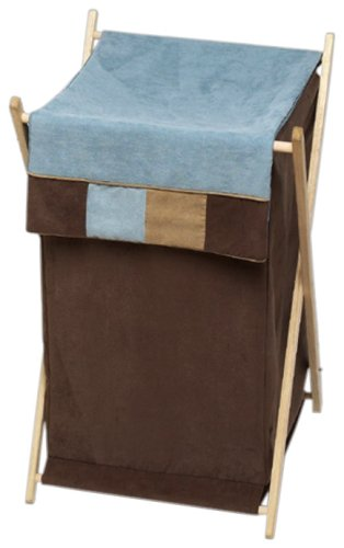 Sweet Jojo Designs Baby and Kids Clothes Laundry Hamper - Soho Blue and Brown Hamper-SohoBlue