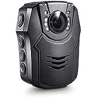 Boblov Cuerpo de Policía Worn Cámara de Vídeo Visión Nocturna Infrarroja 1080P HD Advierte Las Videocámaras La Grabadora De Voz Video 64GB TF (64GB)