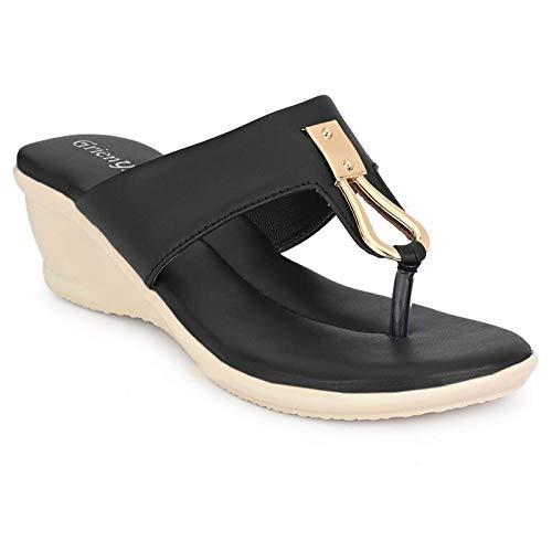 Synthetic Slip-on Platform Sandal