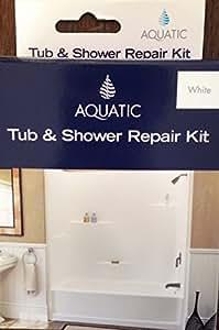 Aquatic Tub And Shower Repair Kit White Wall Surface