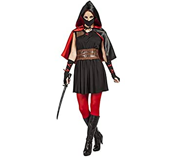 Kimokawaii Disfraz de Asesina Medieval para Mujer: Amazon.es ...