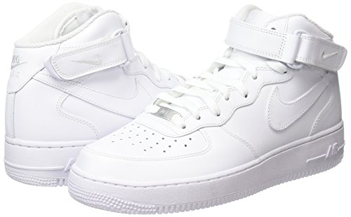 Force White Nike Wmns Mid Blanco 1 Para De '07 Zapatillas Deporte Mujer white Air OEpqE