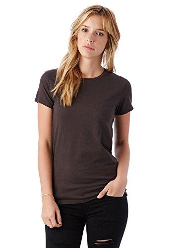 Alternative Women's Organic Cotton Short Sleeve Tee, Earth Black, X-Large