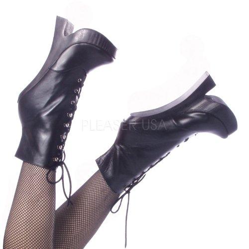 Devious FEMME-1020 Blk Leather Size UK 2 EU 35