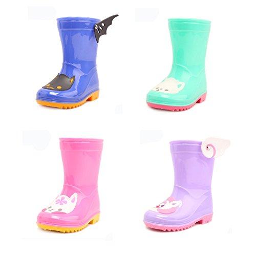 Coloré mignon Kid de pluie cothurne Bottes Chaussures Imperméable Bottes, rose