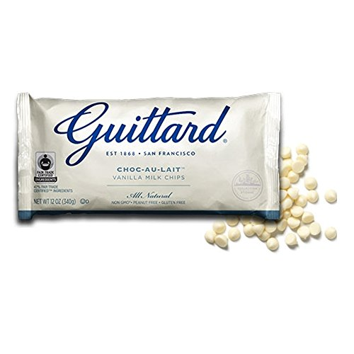 Guittard White Milk Baking Chocolate Maxi Chips - Guittard White Chocolate Cookie Drops, Kosher Certified, 25Lbs by Guittard