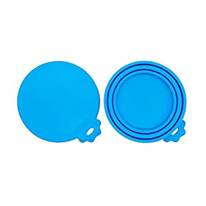SACRONS-Can Covers/Universal Silicone Can Lids for Pet Food Cans/Fits Most Standard Size Dog and Cat Can Tops/100% FDA Certified Food Grade Silicone & BPA Free 24