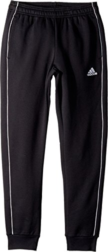 adidas Core18 Sweat Pants, Black/White, X-Large (White Sweatpant Youth)