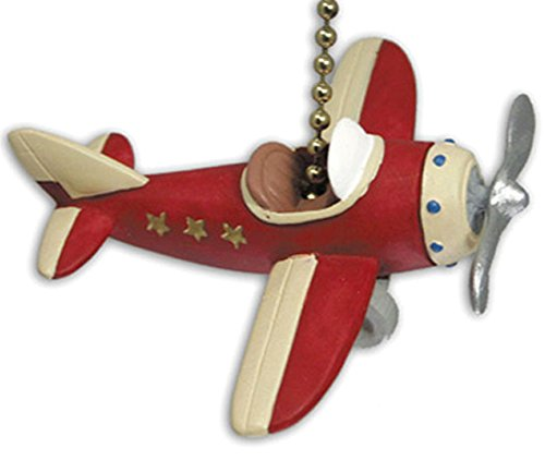 Ceiling Fan Chain Pull (RED PLANE propeller AIRPLANE ceiling FAN PULL chain)