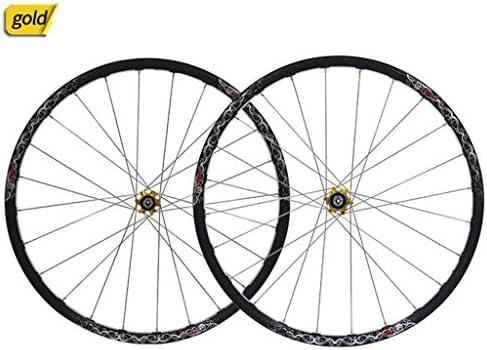 """GXFWJD ホイール26"""" 自転車ホイールセット MTB ダブルウォールアロイリム タイヤ1.5-2.1"""" ディスクブレーキ 7-11速度 ペイリンベアリングハブ クイックリリース 24H 4色"""
