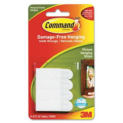Command Products - Command - Picture Hanging Removable Interlocking Fasteners, 5/8 x 1-3/8, 4 Set/Pack - Sold As 1 Pack - Interlocking fasteners. - Holds on strongly. - Comes off cleanly. - No nail holes. - - Removable Fasteners