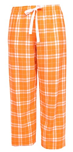 Orange and White Check Flannel Tie Cord pants, Unisex Sizes, Extra Large