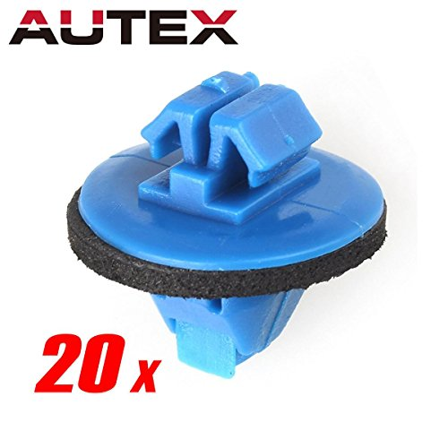 PartsSquare 20pcs Fender Liner Fastener Rivet Push Clips Retainer for Toyota 4Runner FJ Cruiser Highlander RAV4