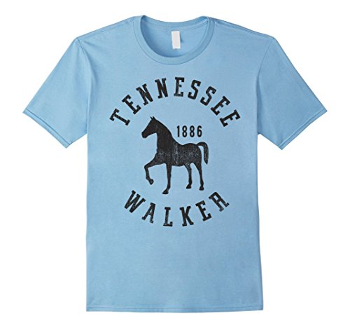 Mens Tennessee Walker Horseback Riding Vintage Graphic T-Shirt XL Baby Blue (Tennessee Riding Walker)
