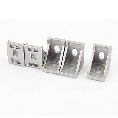 28mmx28mmx20mm 90 Degree Corner Braces Angle Bracket Silver Gray 5 Pcs