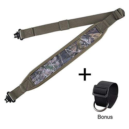 (BOOSTEADY Rifle Sling with Mil-Spec Swivels,Durable Shoulder Padding Gun Strap, Metal Hardware Length)